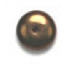 Glass Bead Round Flat 8mm Bronze - Strung